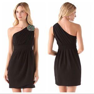 Shoshanna Melanee One Shoulder Embellished Dress